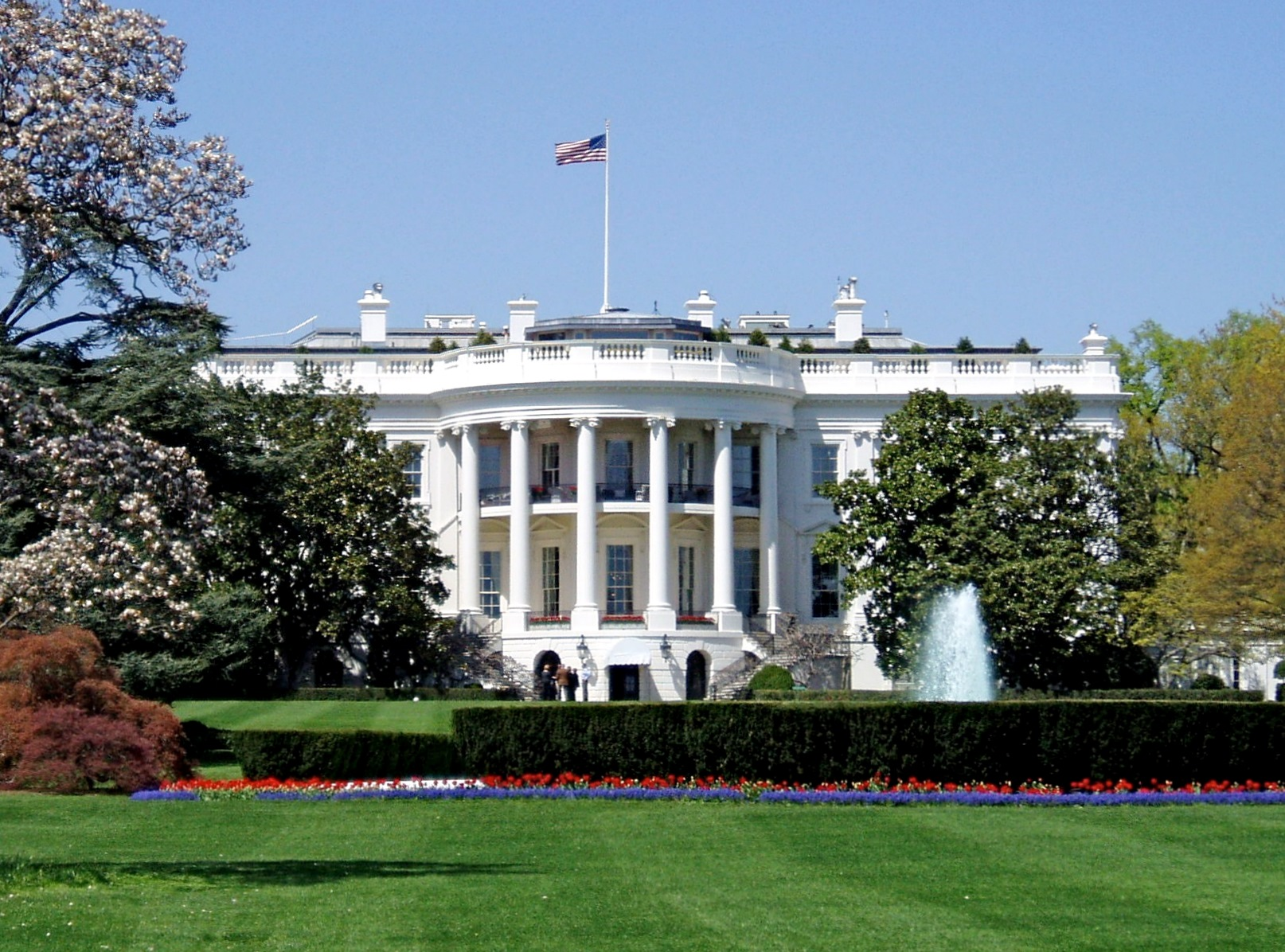 English: South façade of the White House, the ...