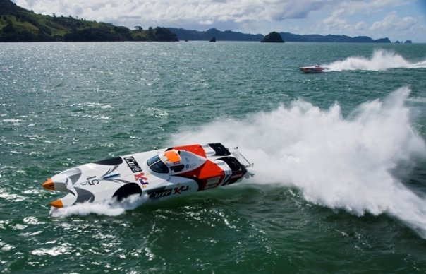 English: Offshore Power Boat racing at the 200...