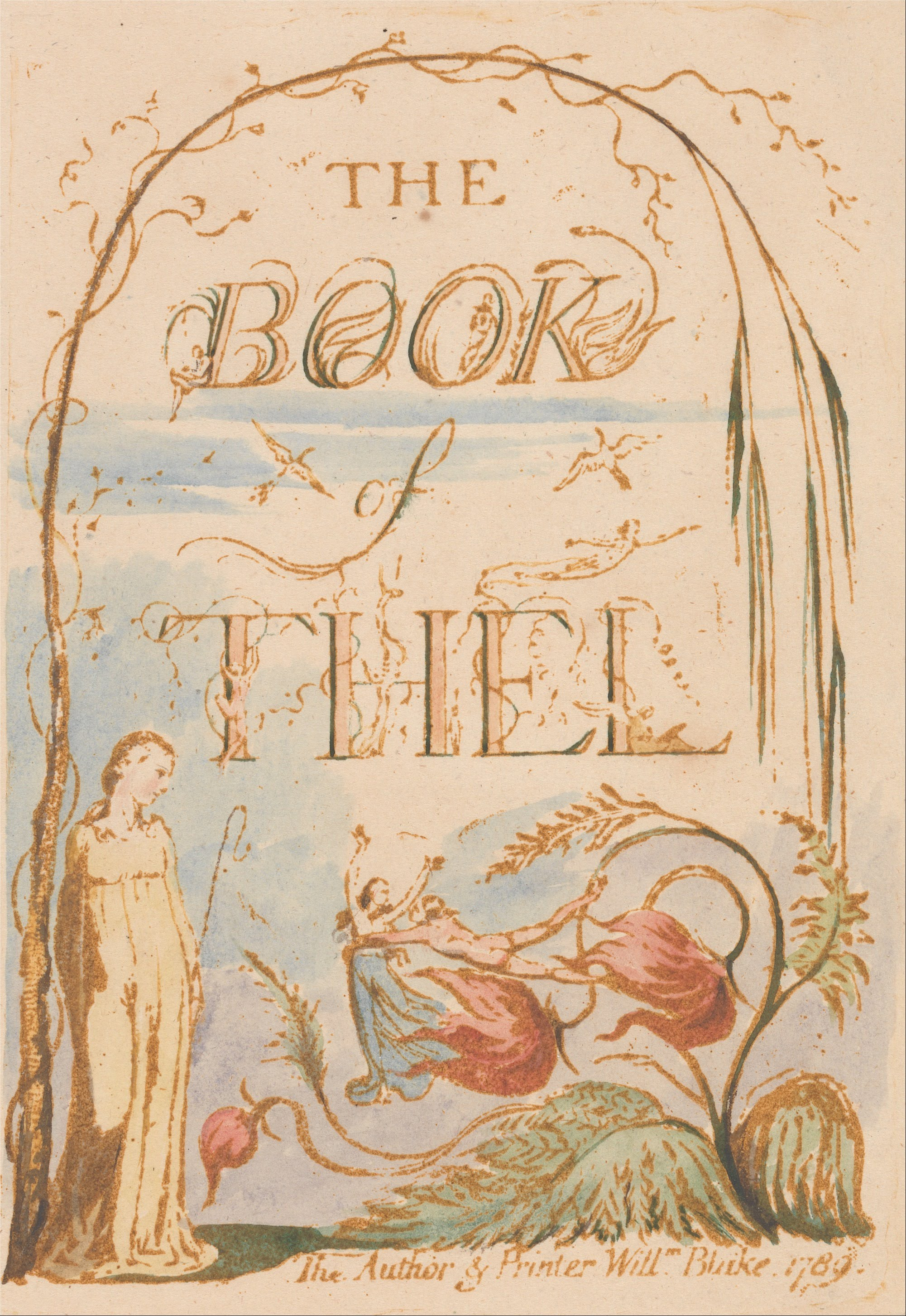 File William Blake The Book Of Thel Plate 2 Title Page