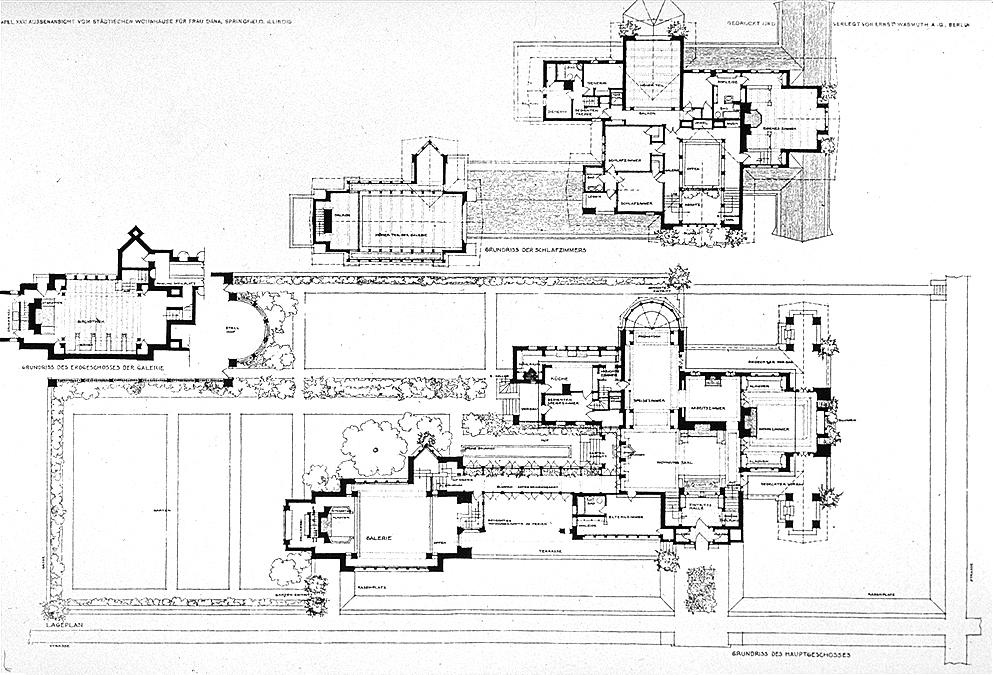 housing plans. File:Dana House plans