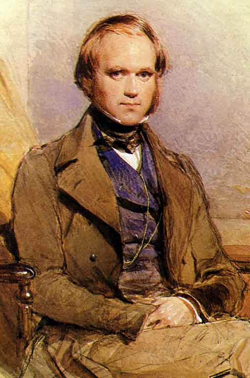 Charles Darwin - young man portrait (painting).