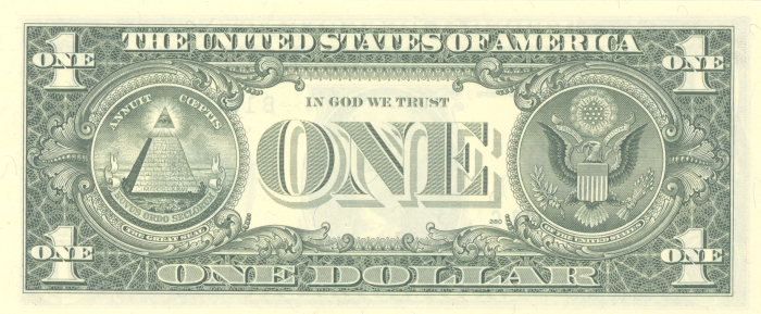 dollar bill. States one dollar bill,