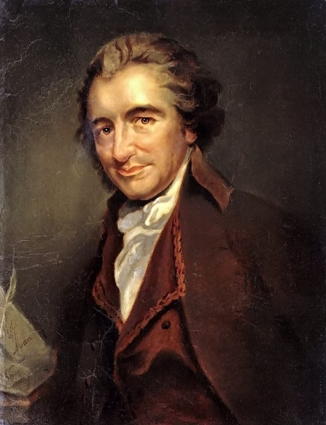 Thomas Paine (1737-1809), involverad i såväl den amerikanska som den franska revolutionen, var tidig med idén om basinkomst.