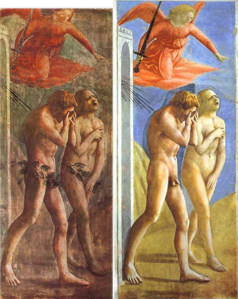 The Expulsion Of Adam And Eve From Eden - Restoration