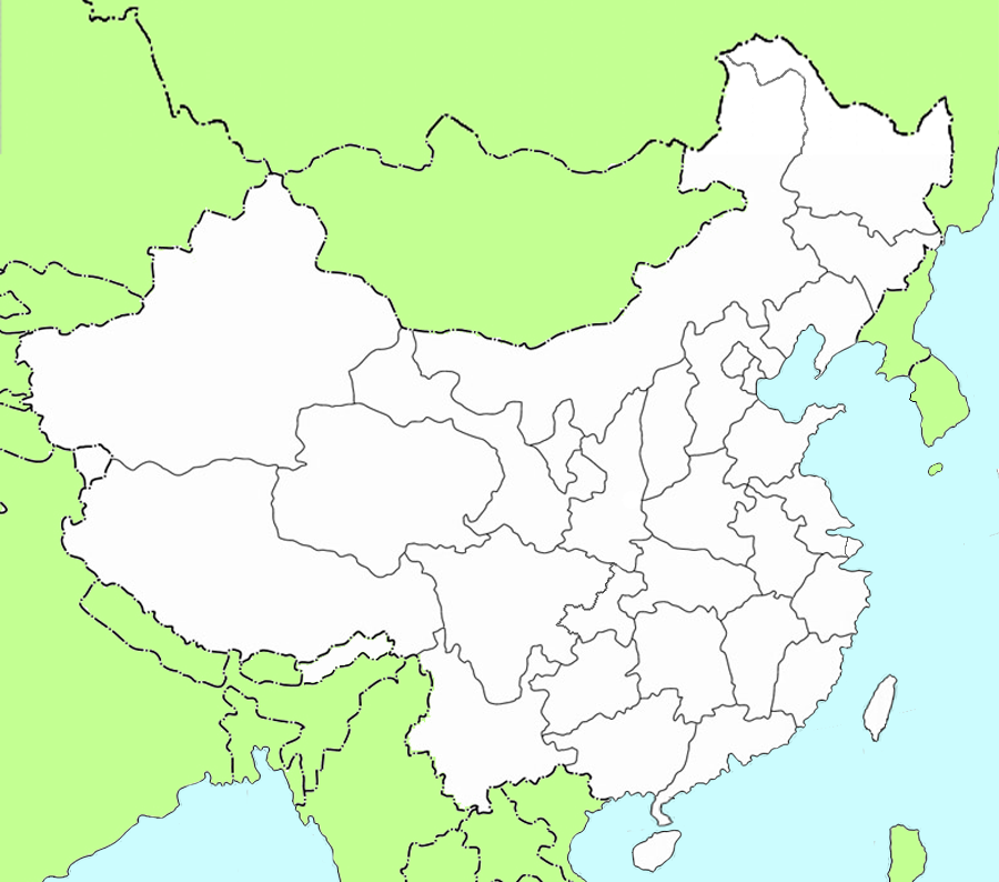 outline map of china and surrounding countries. hot Free Blank Outline Maps of