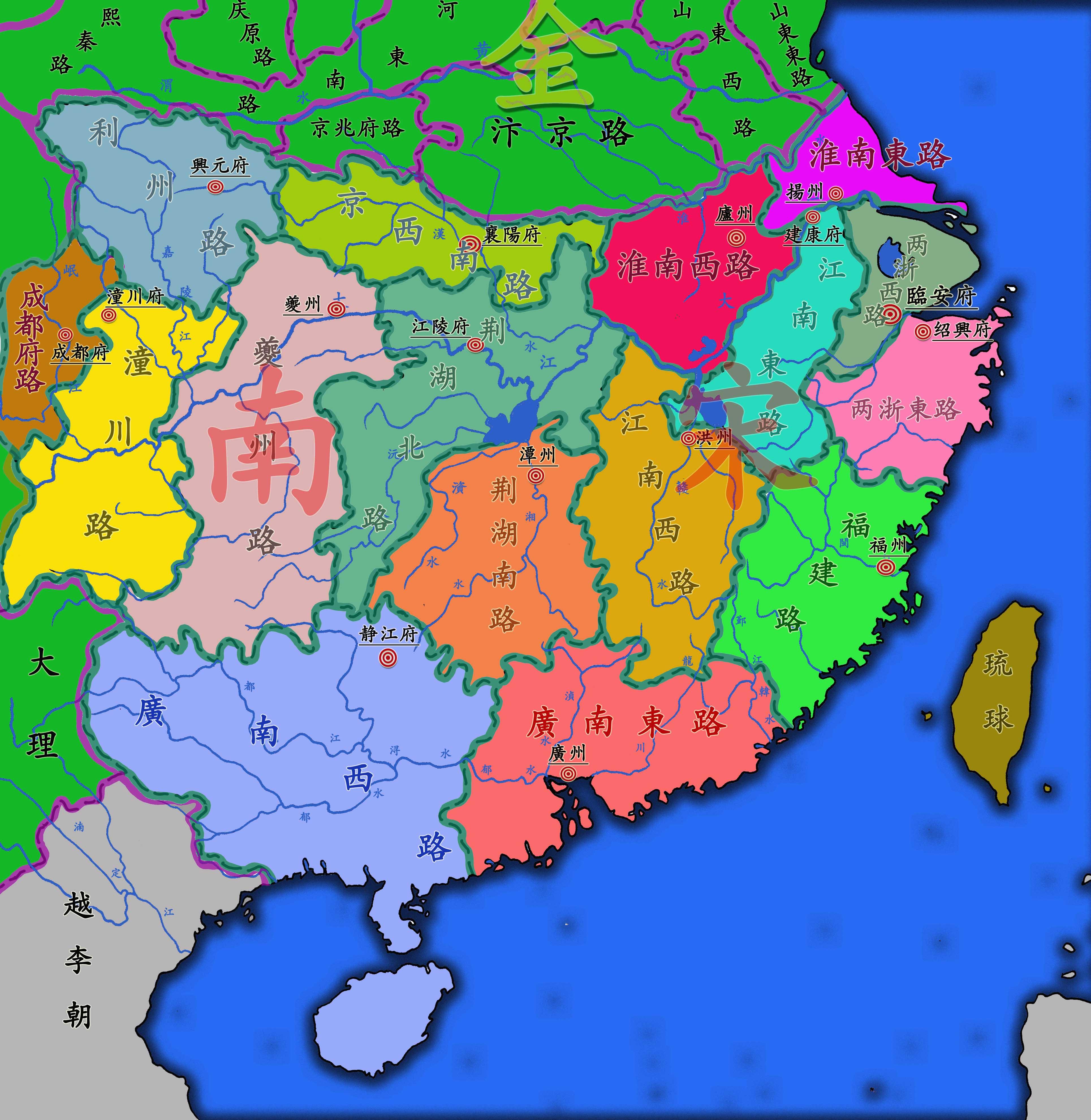 宋朝 地图