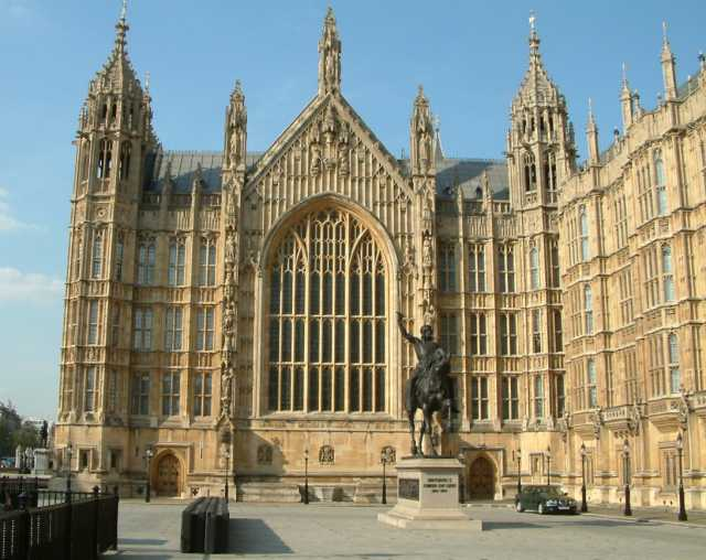 Уестминстърски дворец 20080327202335!Palace_of_Westminster_Westminster_Hall_south