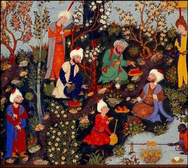 Sąd poetów, w ogrodzie i jedzą...