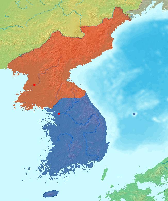 Map Korea