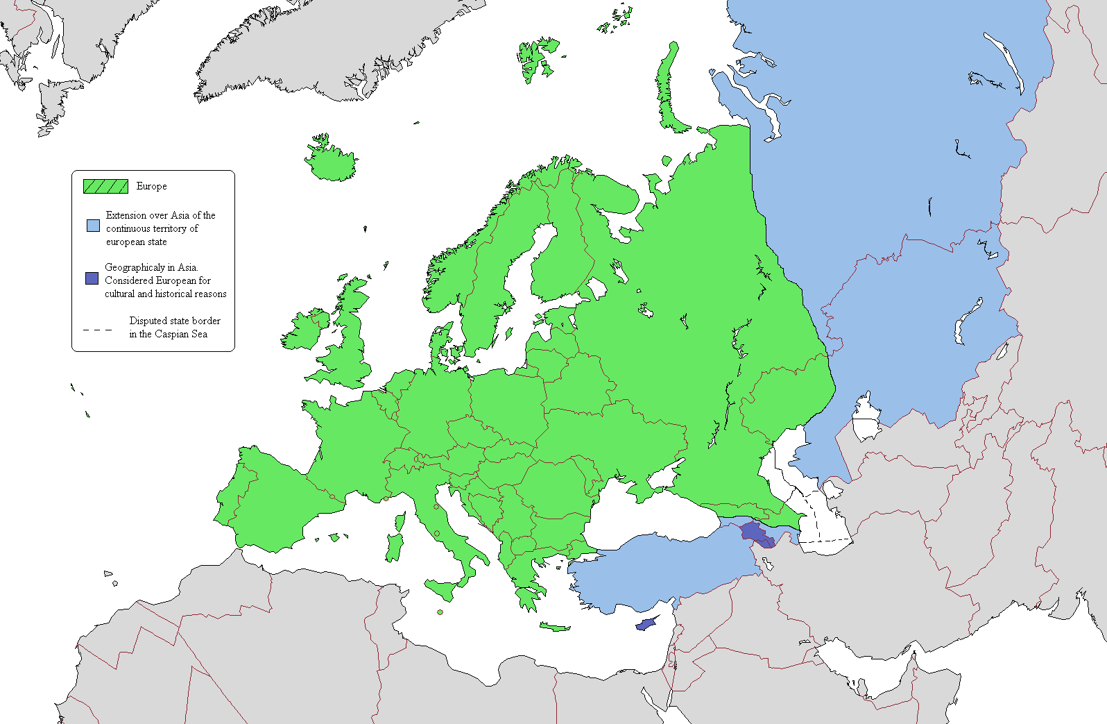 Political Map Of Europe 2007