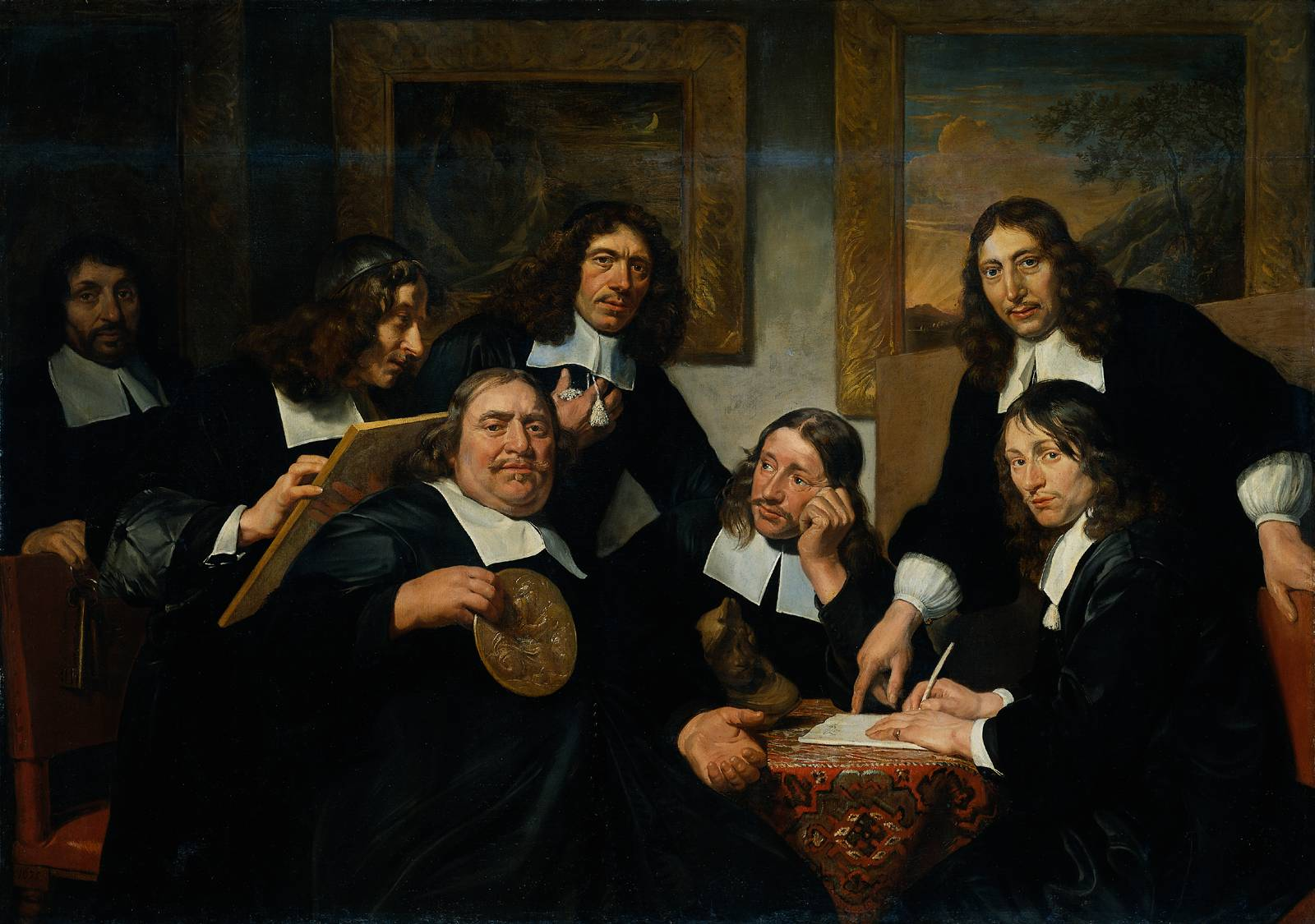 The governors of the guild of St. Luke, Jan de Bray
