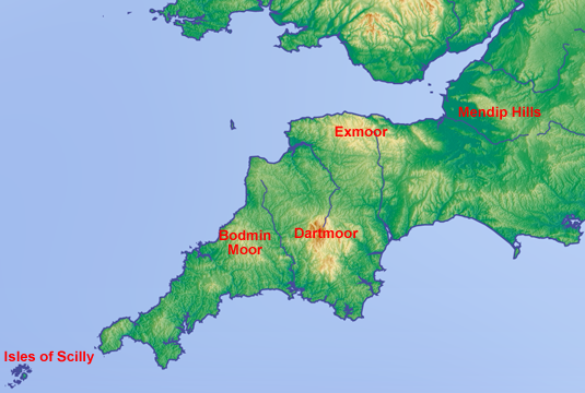 west of showing barbados england south parished map