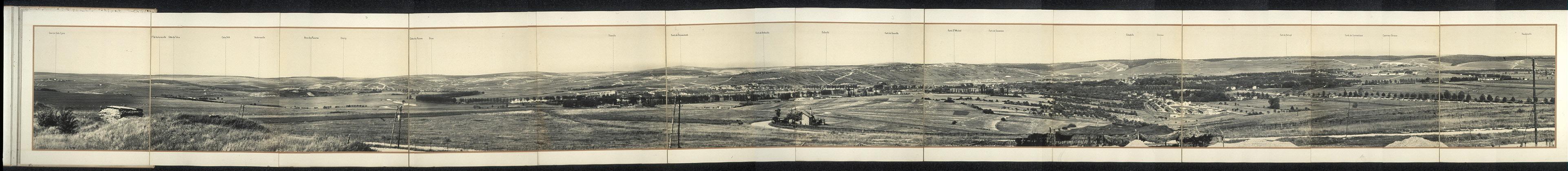 Panorama del campo di battaglia di Verdun