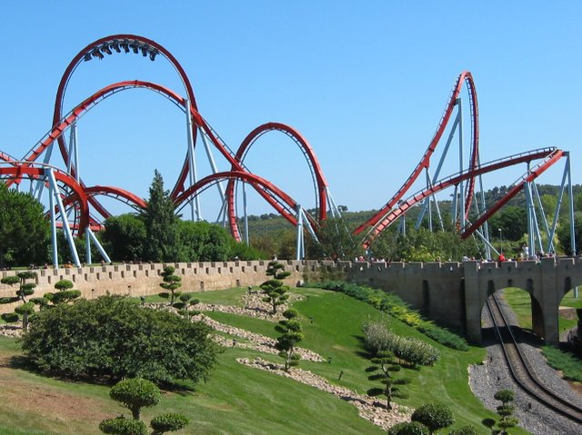 Dragon Khan Roller Coaster, Port Aventura, Spain, by Boris23