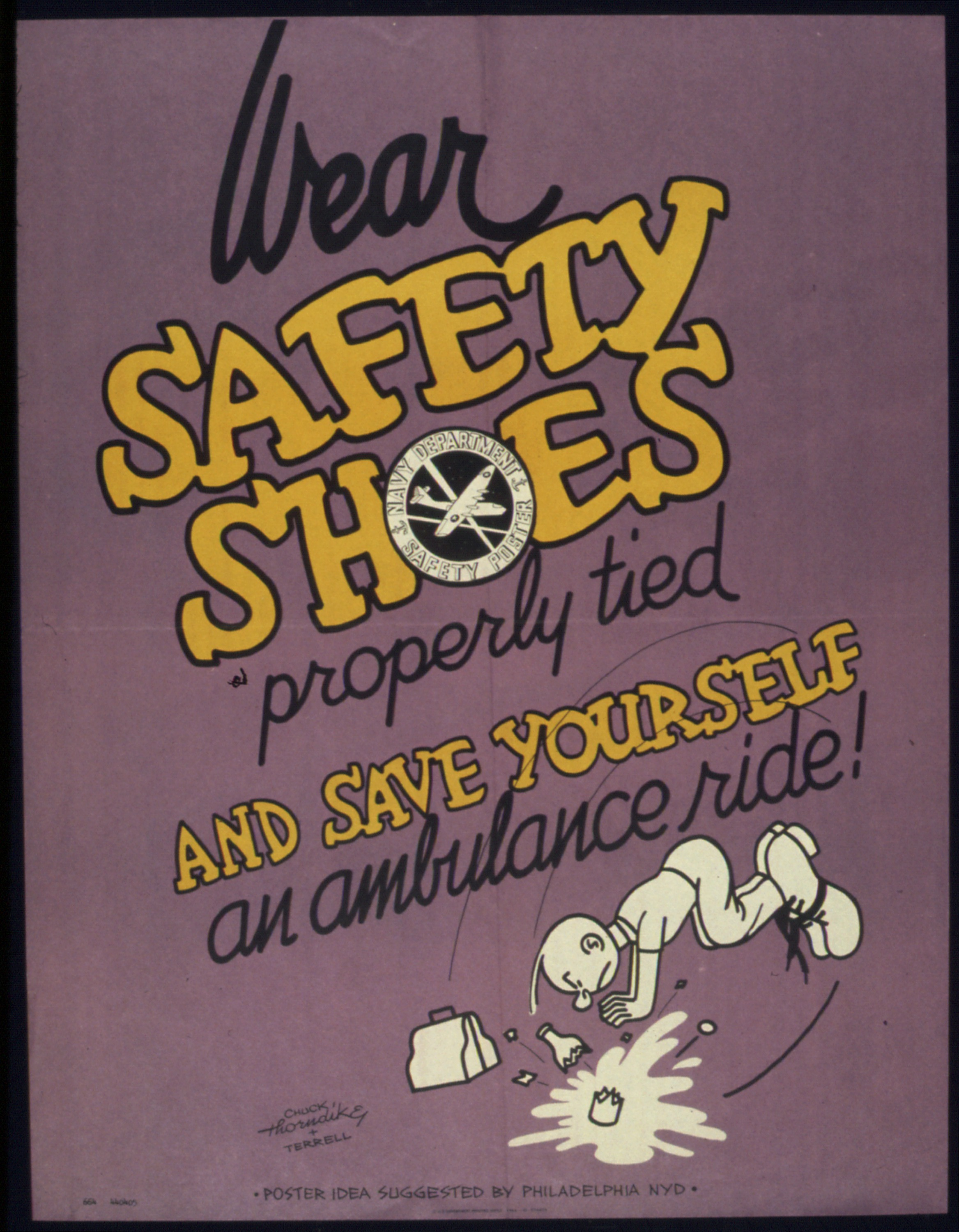 file  u0026quot wear safety shoes  properly tied and save yourself an ambulance ride u0026quot  - nara