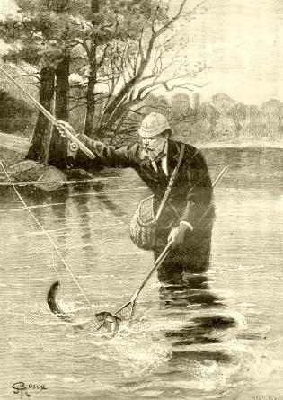 Pêcheurs roi déjà gorge verrou de la gorge verrou amateur