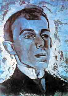 Портрет Мандельштама. Л. А. Бруни (1916г.)