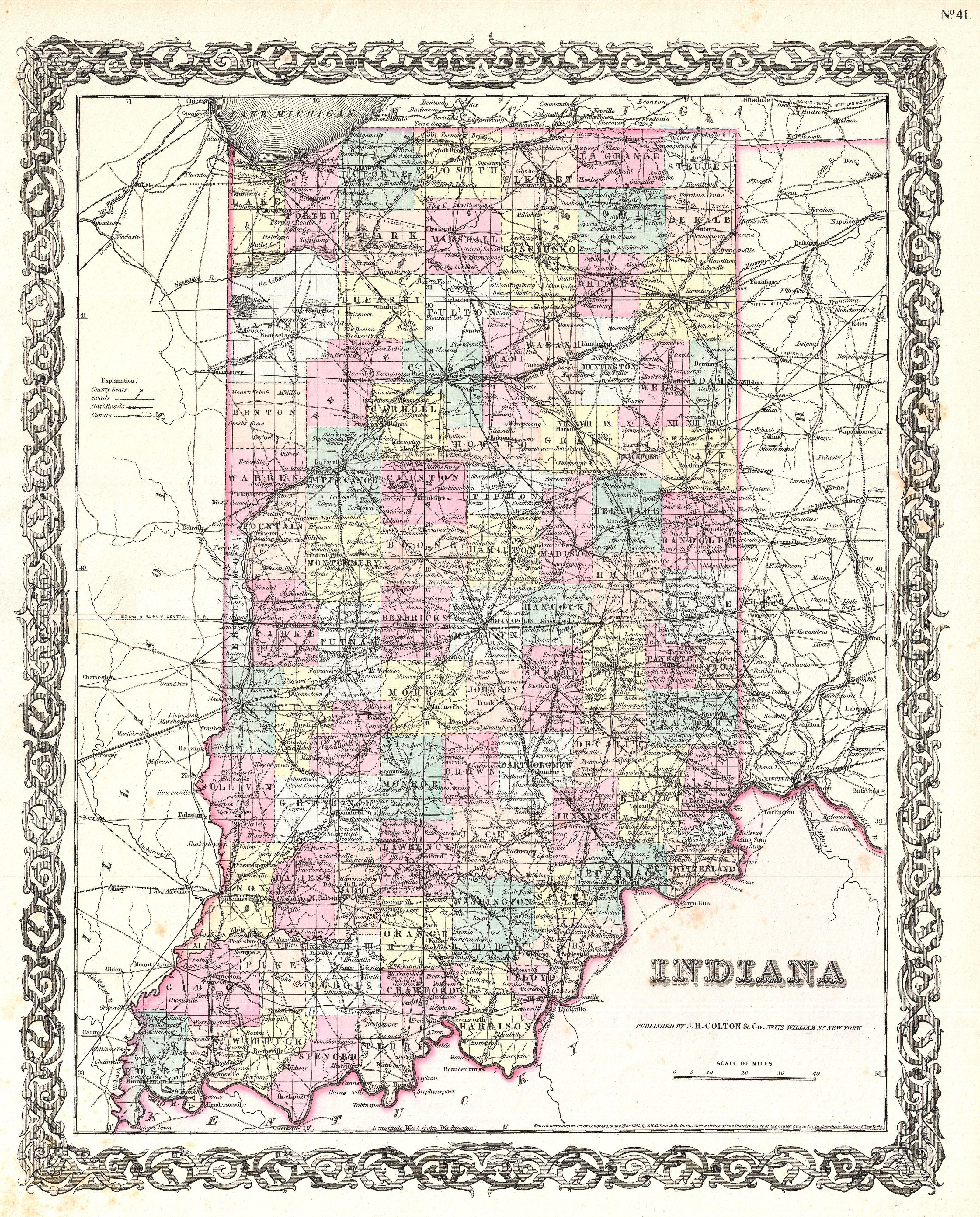 Crazy image with regard to printable map of indiana