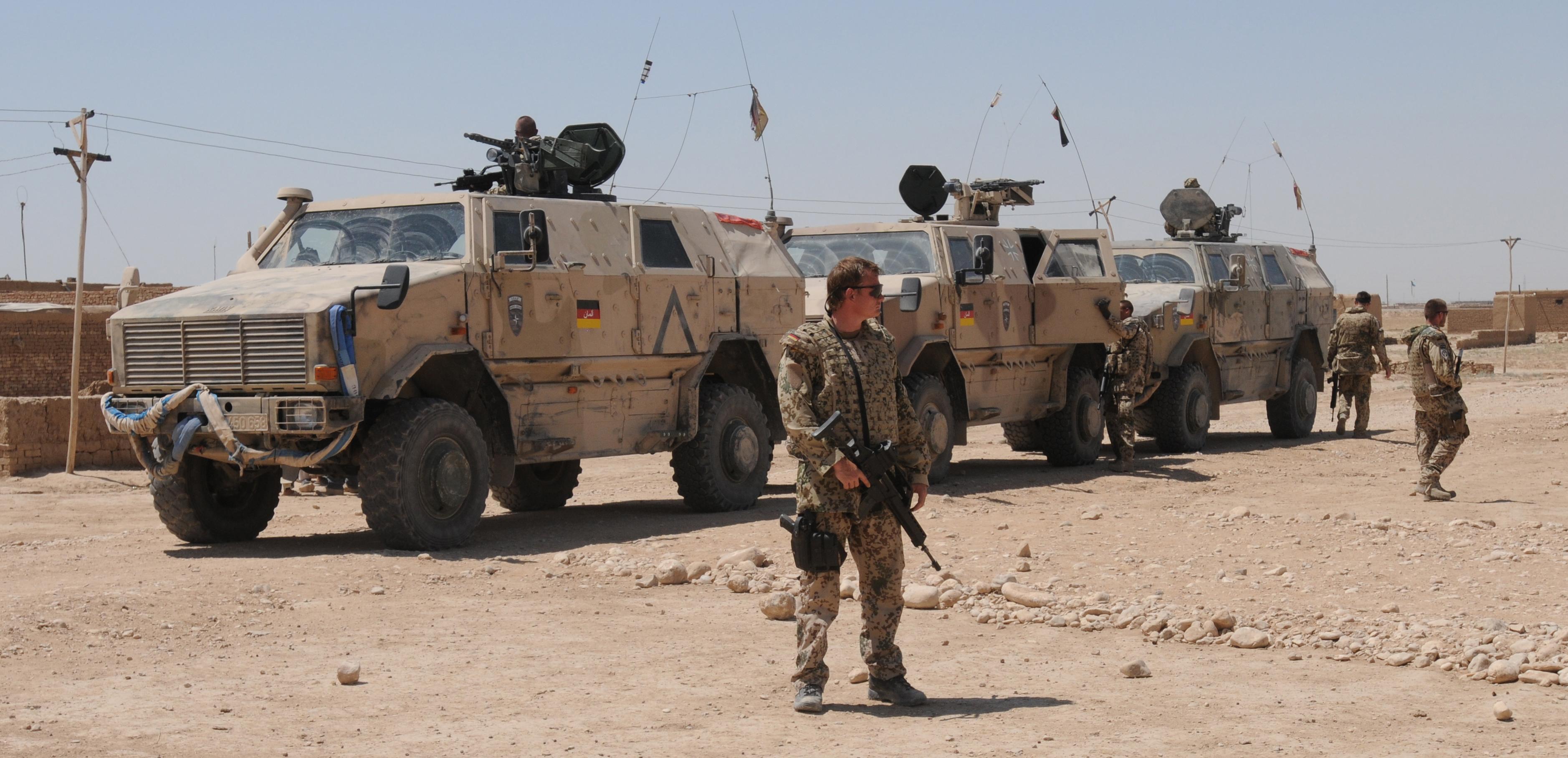 Soldaten der Bundeswehr während des ISAF-Auslandseinsatzes in Afghanistan