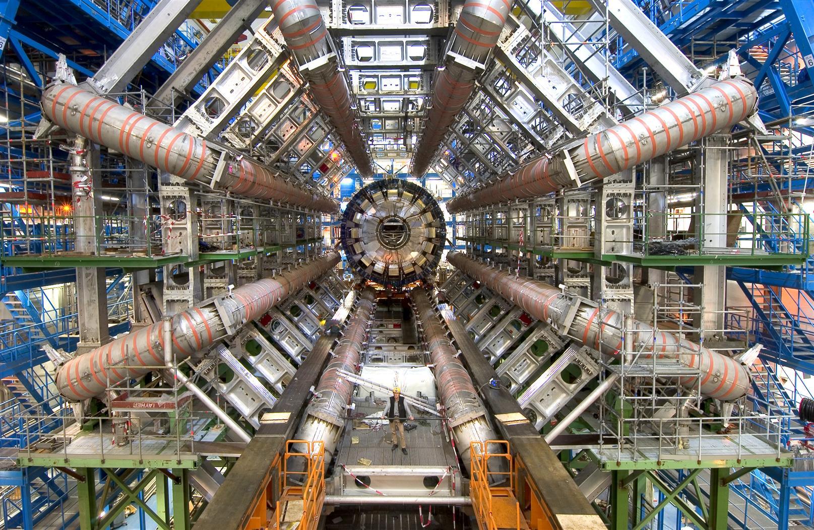 ATLAS experiment at CERN before installing the calorimeter.