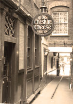 Dickens was a regular patron at Ye Olde Cheshire Cheese pub in London. He included the venue in A Tale of Two Cities.