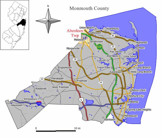 Aberdeen Township New Jersey Wikipedia - Where is aberdeen