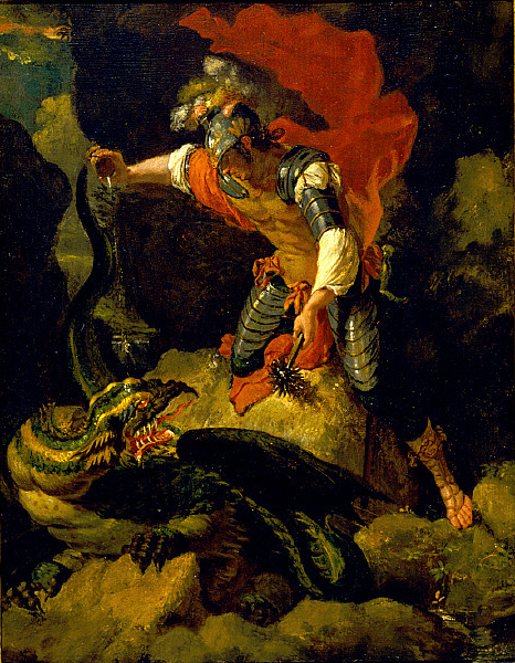 After Salvator Rosa - Jason Poisoning the Dragon