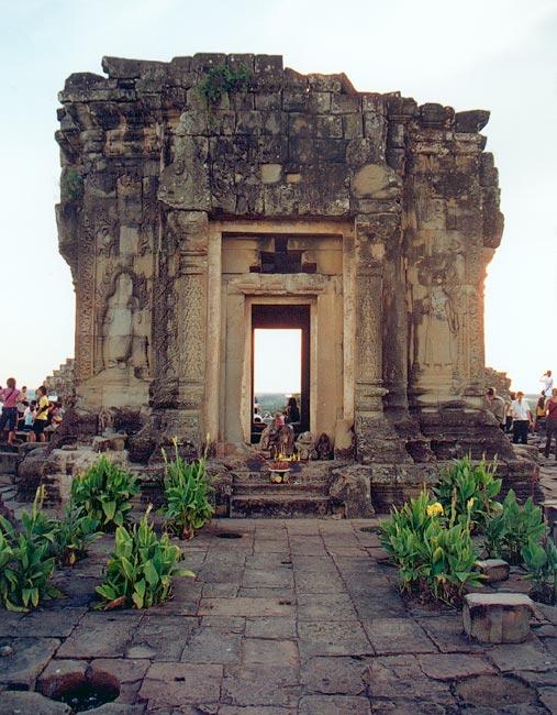 Temple On The Top Of Phnom Bakheng, Angkor Stock Image ...  |Phnom Bakheng Temple
