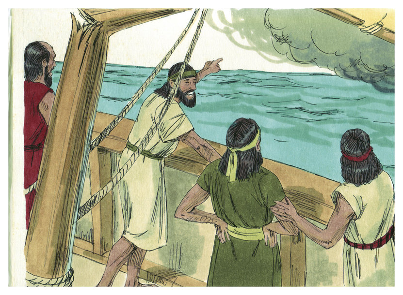 Description book of jonah chapter 1-5 (bible illustrations by sweet