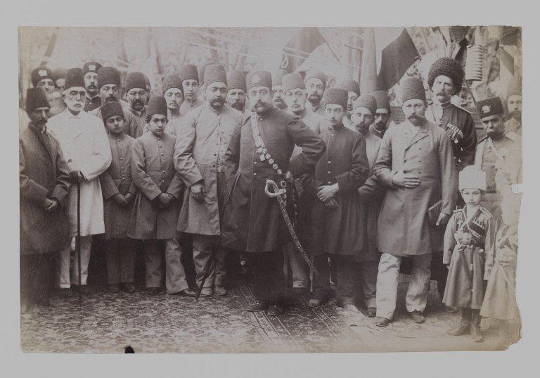 File:Brooklyn Museum - Mozaffar al-Din Shah and his Entourage One of 274 Vintage Photographs.jpg