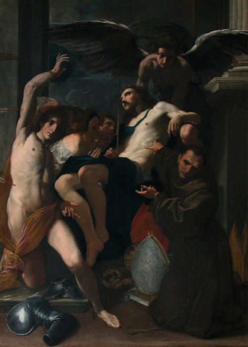 Christ Adored by Angels, St. Sebastian and St. Bonaventure