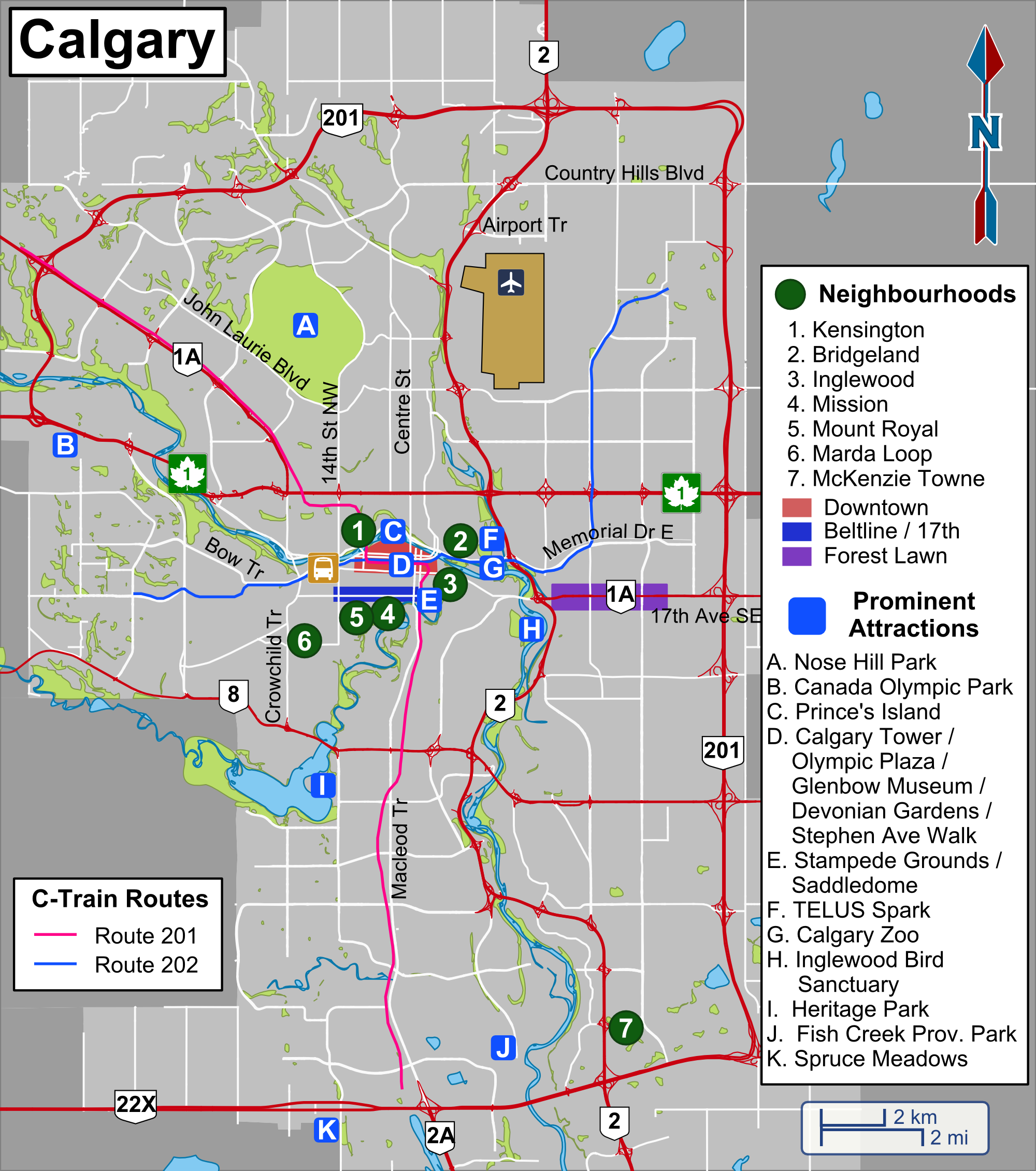 File Calgary Travel Map Overview Of The City Png