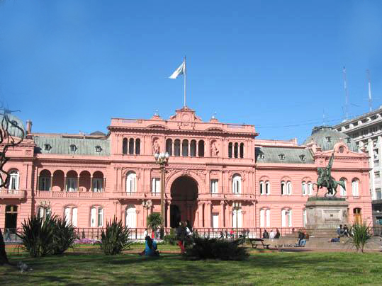 Casa Rosada, the Presidential Palace, Buenos Aires (from Wikimedia)