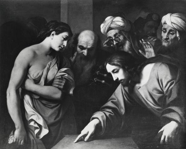 File:Collezione Durazzo Pallavicini, daniele crespi, cristo e l'adultera.jpg