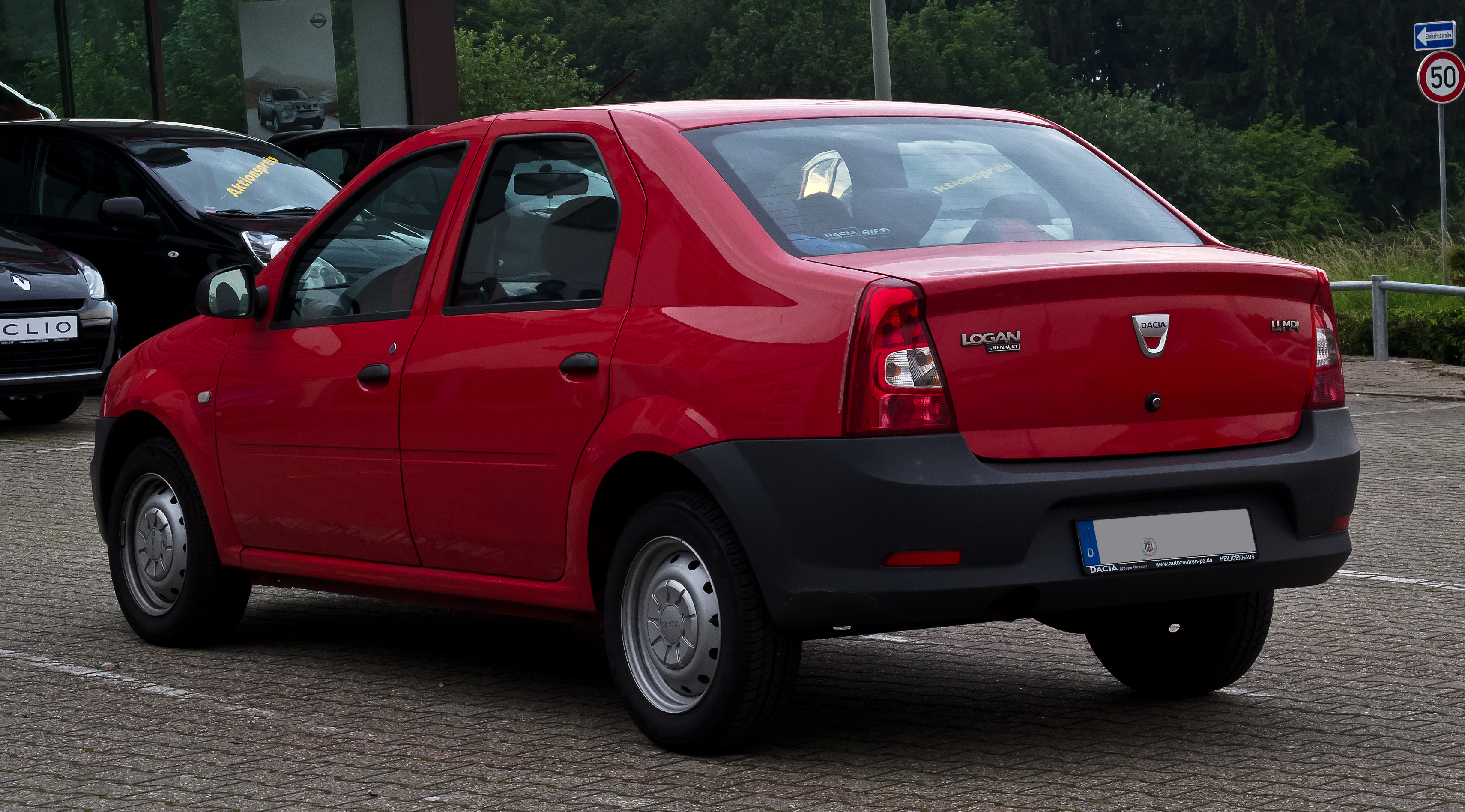 file dacia logan 1 4 mpi facelift heckansicht 19 juni 2012 wikipedia. Black Bedroom Furniture Sets. Home Design Ideas