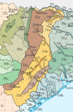 East Central Texas Forests Wikipedia - Map of central texas