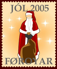 Faroese christmas seals 2005 - santa claus