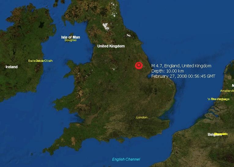Minor Earthquake Shakes England Wikinews The Free News
