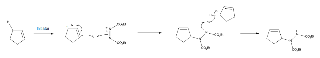 Figure 5. Stepwise, free-radical pathway for the ene reaction