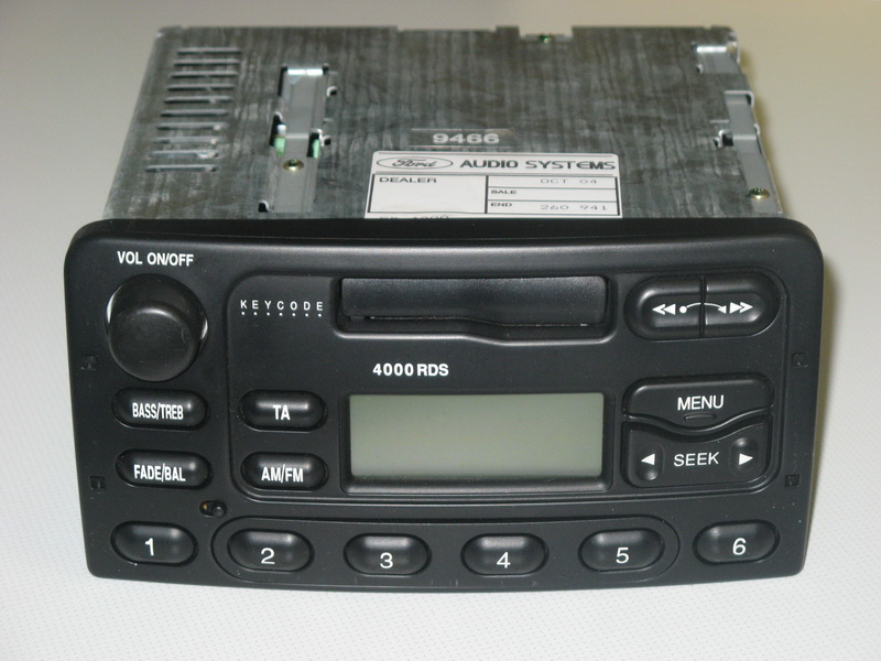how to input radio code on ford radios rds 4000 5000 6000. Black Bedroom Furniture Sets. Home Design Ideas