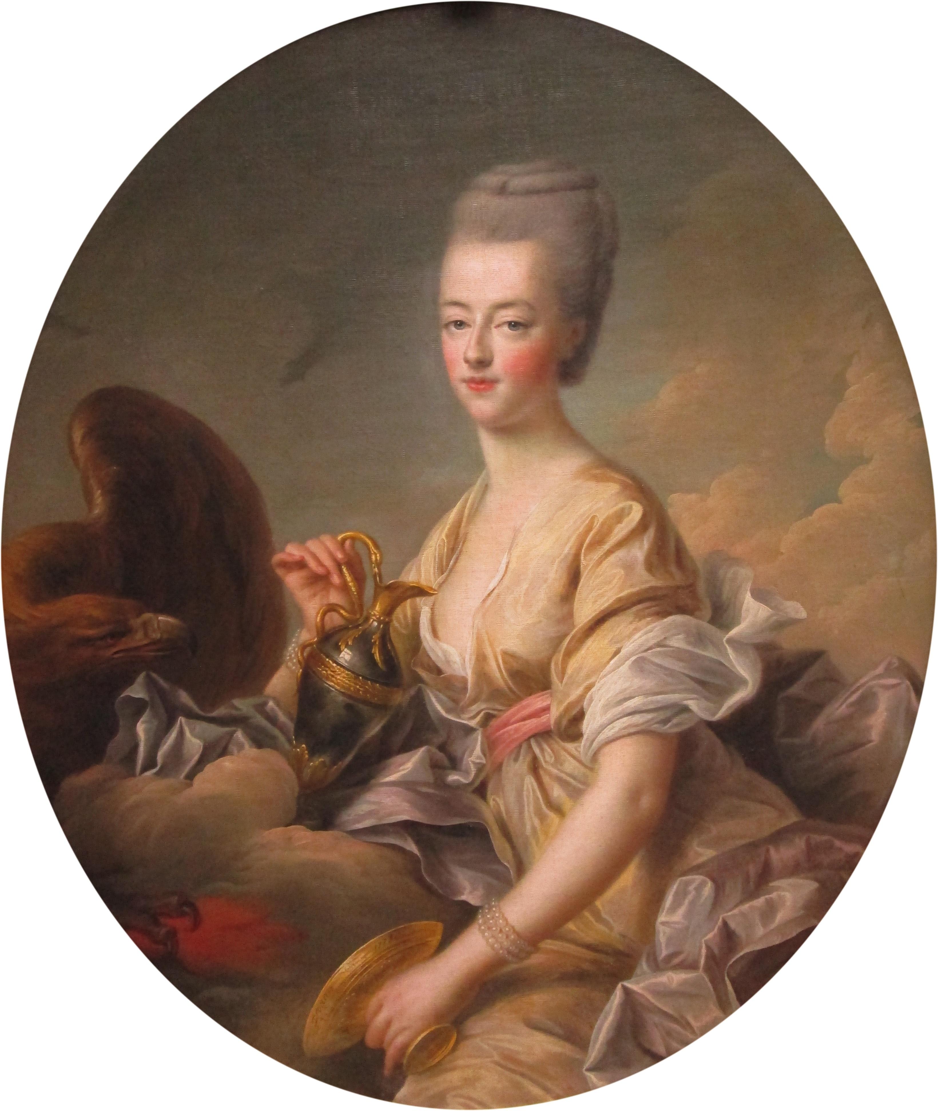 Maria Antonietta in veste di Ebe. Dipinto di François-Hubert Drouais (1774). 5855438889a