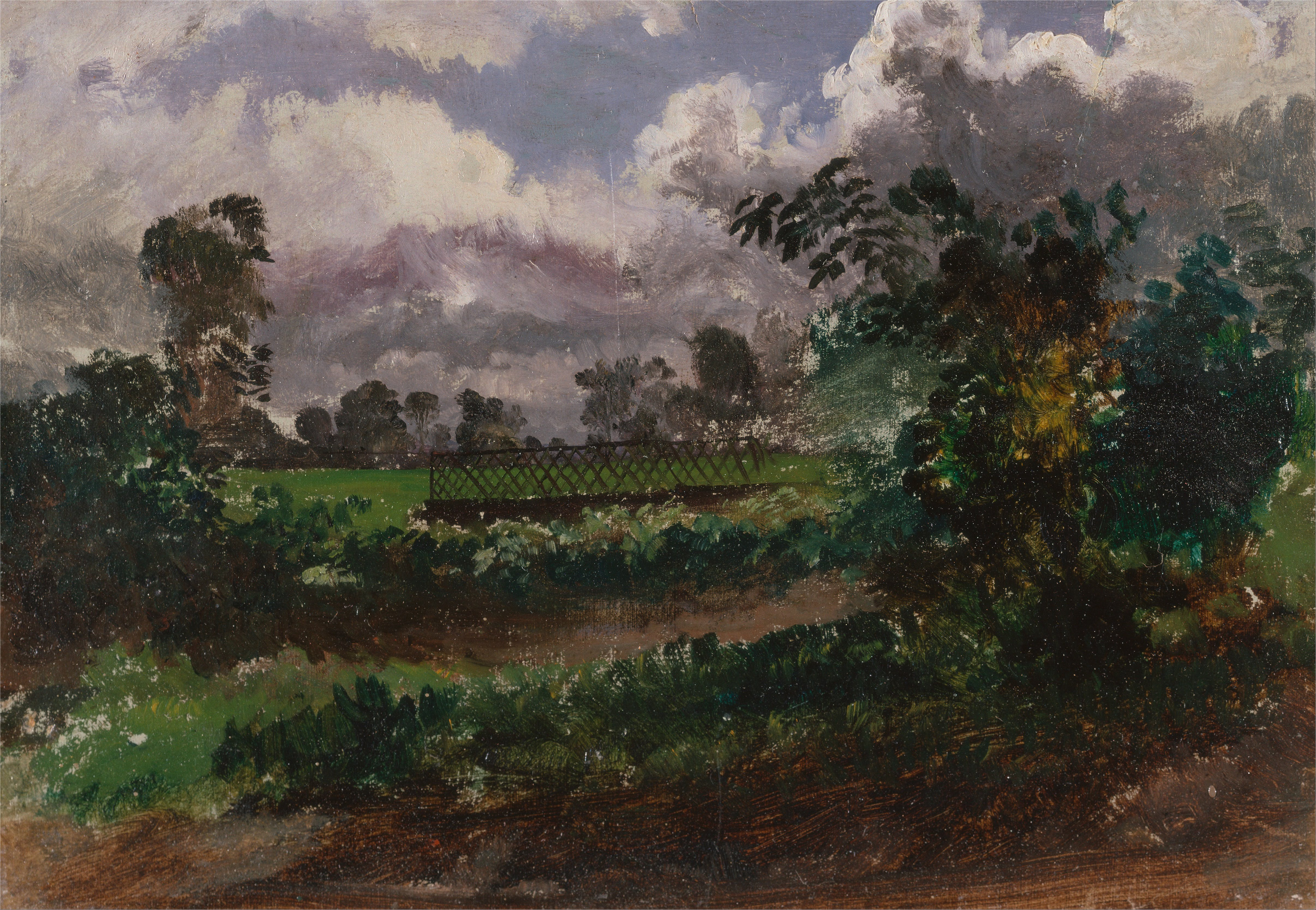 File:Francis Danby   A View Across The Artistu0027s Garden From His House At  Exmouth