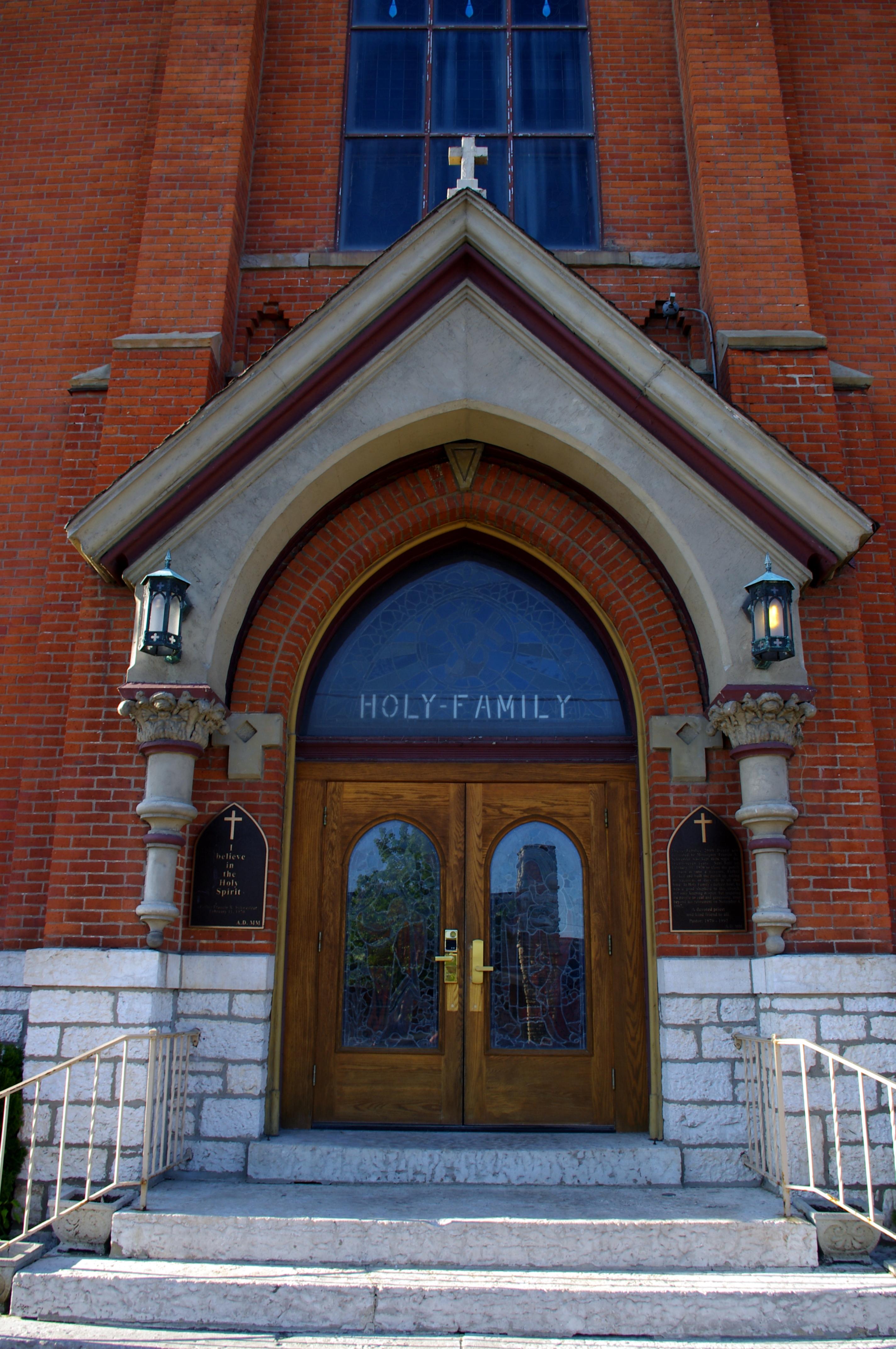 File Holy Family Church Columbus Ohio Exterior Detail Front W