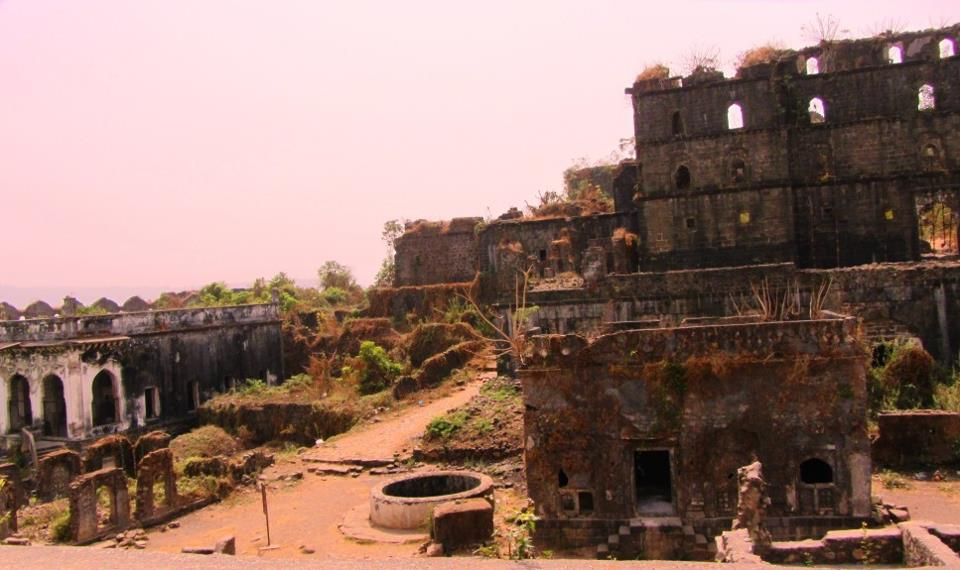 Inside of Murud Fort
