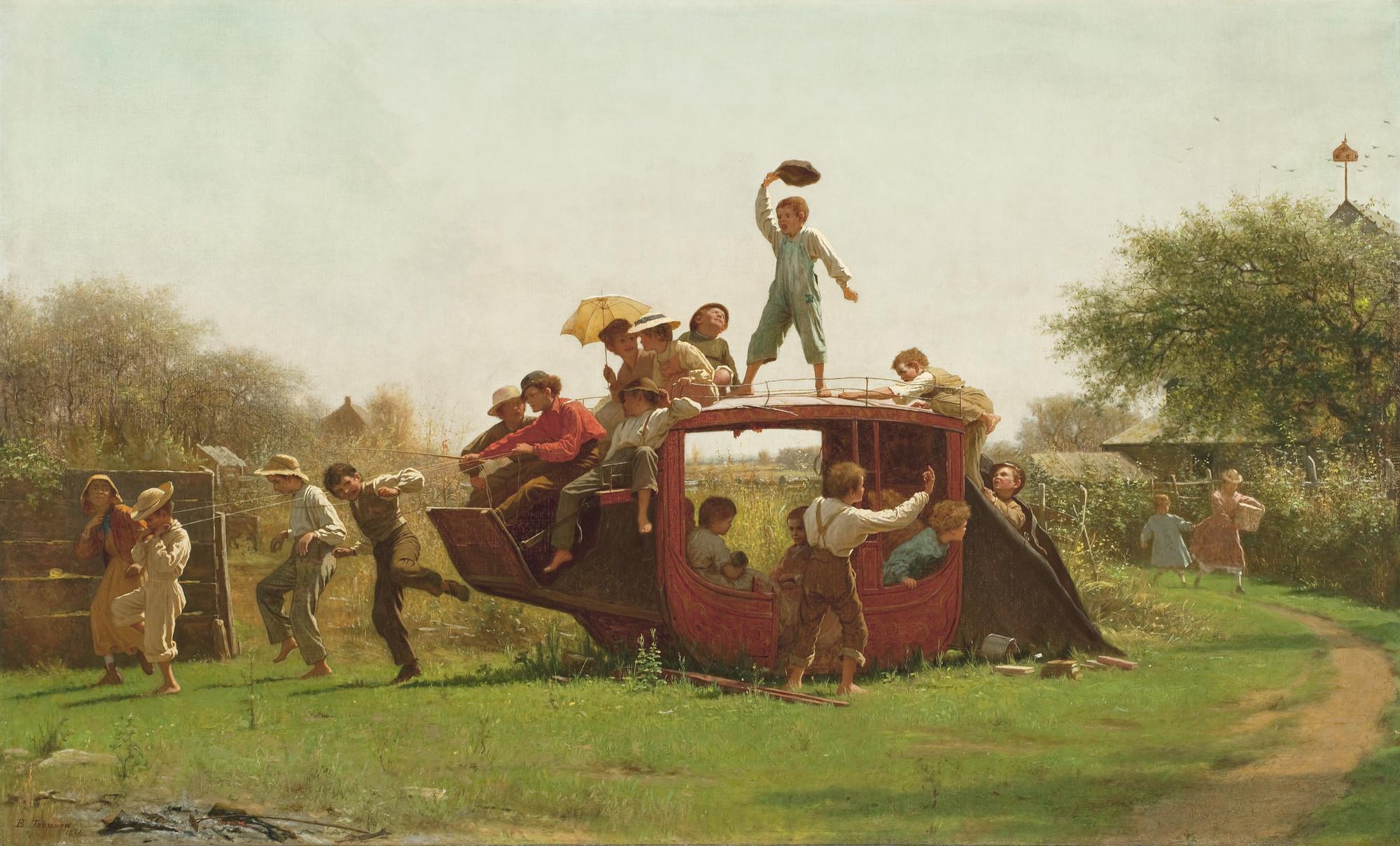 File Jonathan Eastman Johnson The Old Stagecoach Jpg