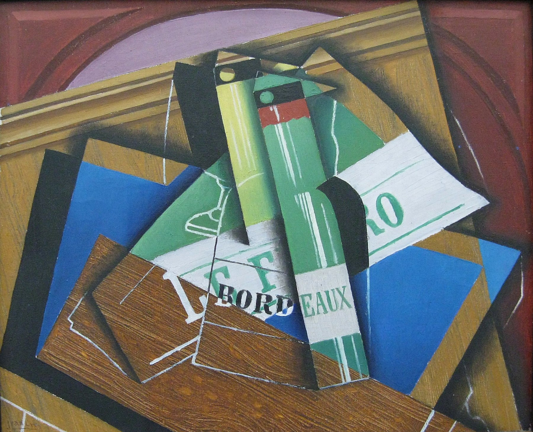 datoteka juan gris die bordeauxflasche 1915 wikipedija. Black Bedroom Furniture Sets. Home Design Ideas