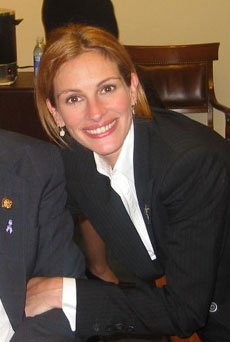 Actress Julia Roberts in May 2002.
