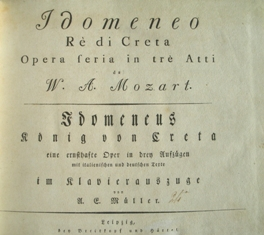 <i>Idomeneo</i> opera by Wolfgang Amadeus Mozart