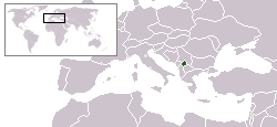 Location of Kosovo