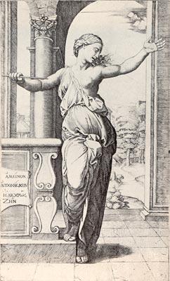 Depiction of Marcantonio Raimondi